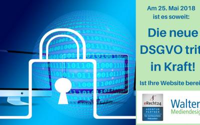 Ist Ihre Website fit für die DSGVO? Vortrag von Sabine Walters am 18.05.2018