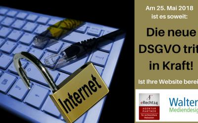 Ab 25.05.2018 gilt die neue DSGVO. Machen Sie Ihre Website fit für die DSGVO